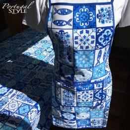 Portuguese Blue Tiles Bread Bag Saco de Pao Azulejos Azul